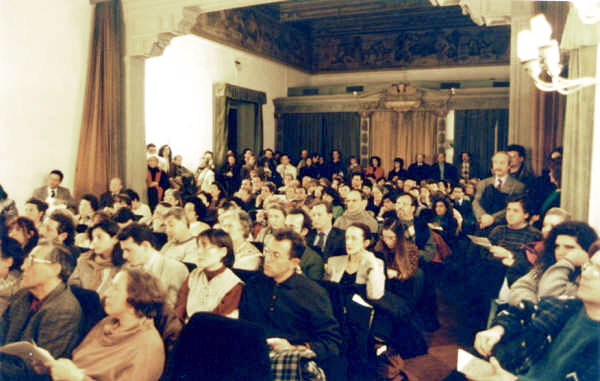 Concert audience in the French Institute